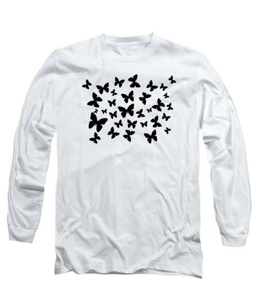 Black Butterflies Long Sleeve T-Shirt