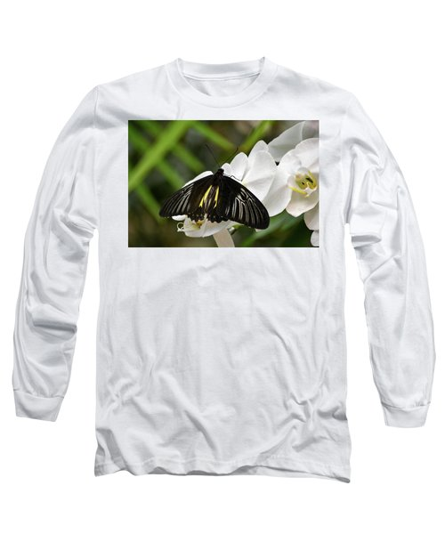 Black Butterfly Long Sleeve T-Shirt