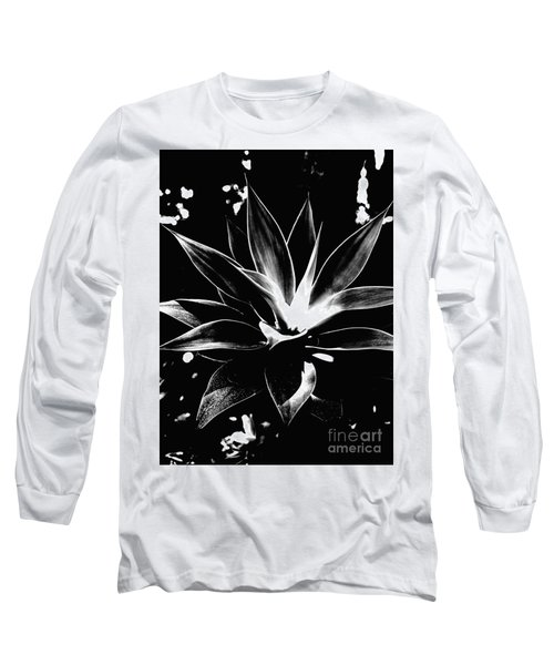 Long Sleeve T-Shirt featuring the photograph Black Cactus  by Rebecca Harman
