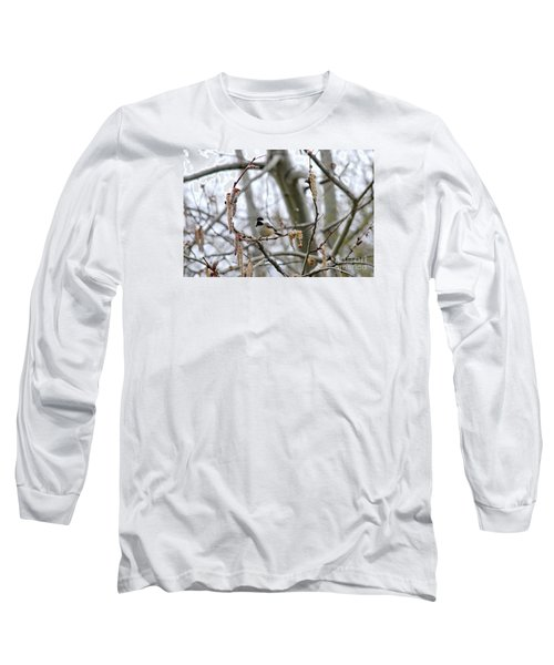 Long Sleeve T-Shirt featuring the photograph Black-capped Chickadee 20120321_39b by Tina Hopkins