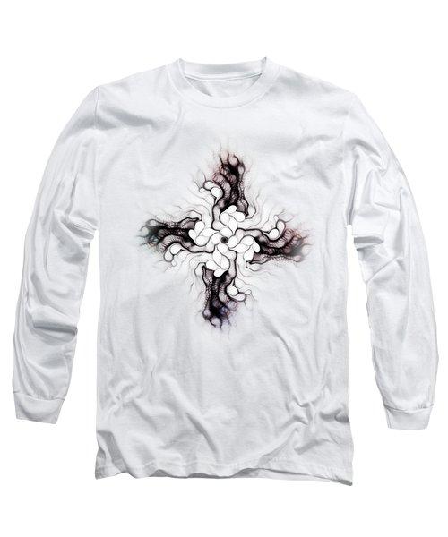 Black Cross Long Sleeve T-Shirt