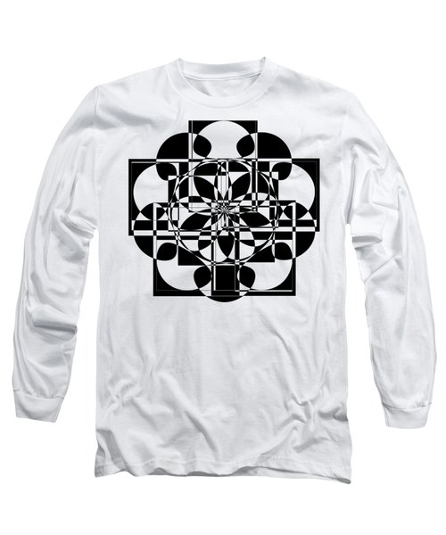 Black Cross Long Sleeve T-Shirt