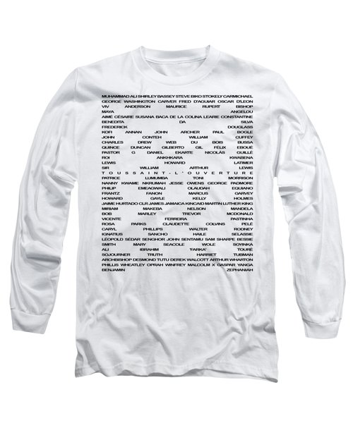 Long Sleeve T-Shirt featuring the digital art Black Excellence by Chief Hachibi