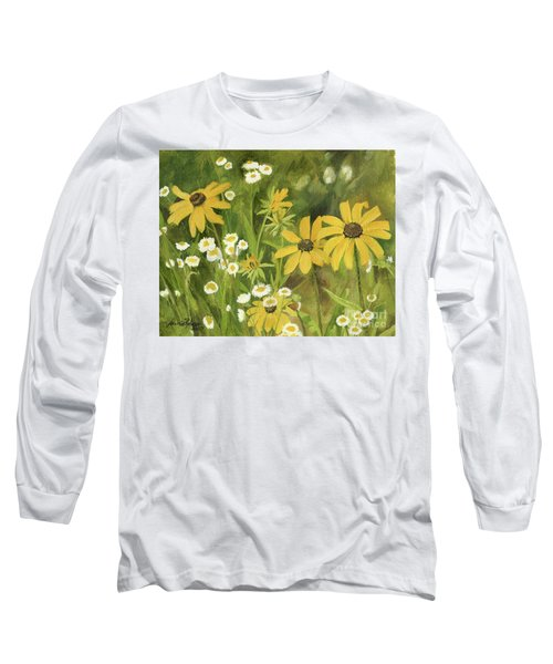 Black-eyed Susans In A Field Long Sleeve T-Shirt