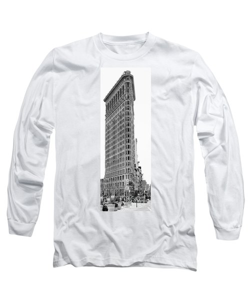 Black Flatiron Building II Long Sleeve T-Shirt