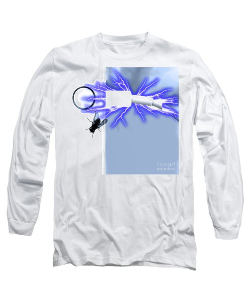 Black Fly On Tablet Long Sleeve T-Shirt
