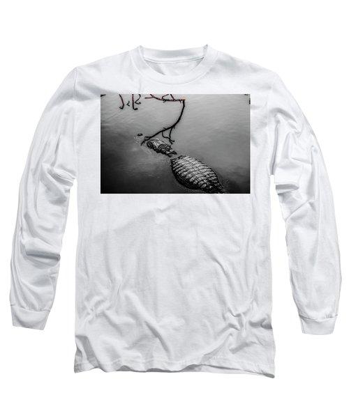 Black Gator Long Sleeve T-Shirt by Josy Cue
