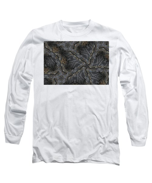 Black Granite Kaleido #1 Long Sleeve T-Shirt