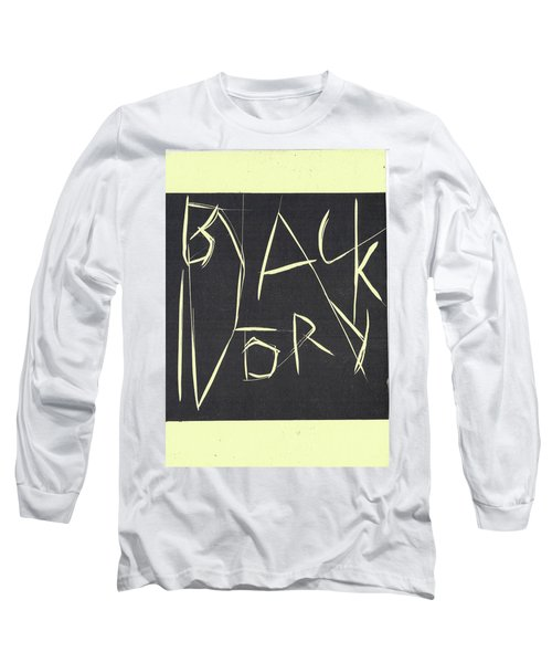 Black Ivory Title Page Long Sleeve T-Shirt