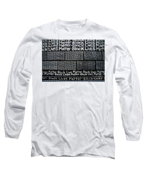 Black Lives Matter Wall Part 3 Of 9 Long Sleeve T-Shirt