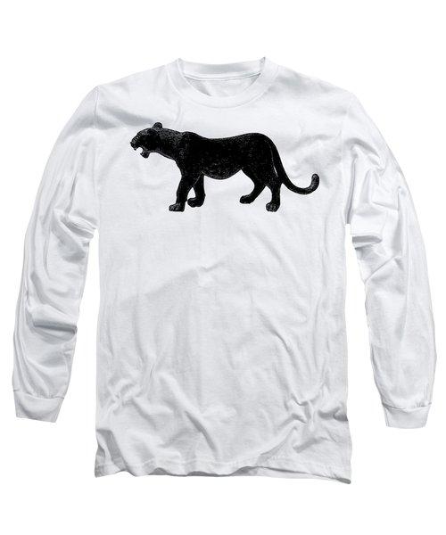 Black Panther, Isolated On White Background, Cartoonized Image, Pose #14 Long Sleeve T-Shirt