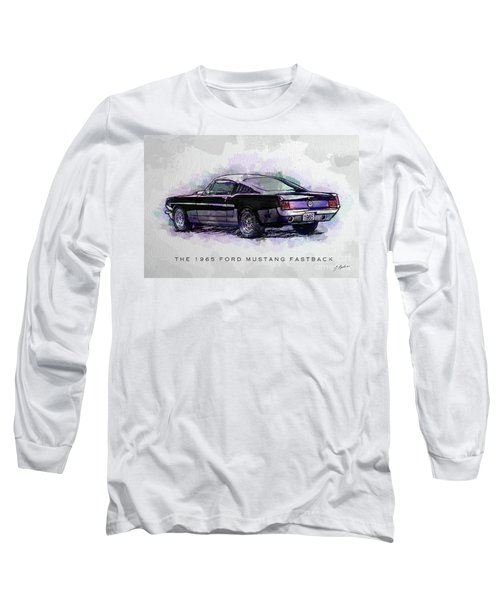 Black Stallion 1965 Ford Mustang Fastback Long Sleeve T-Shirt by Gary Bodnar