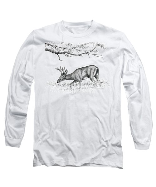 Black Tail In Velvet Long Sleeve T-Shirt