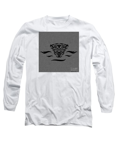 Long Sleeve T-Shirt featuring the digital art Black Tribal Gator by Megan Dirsa-DuBois