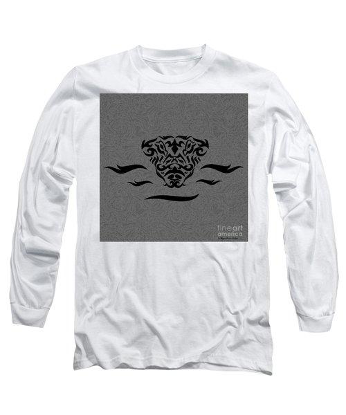 Black Tribal Gator Long Sleeve T-Shirt