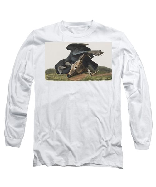 Black Vulture Or Carrion Crow Long Sleeve T-Shirt