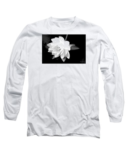 Black/white Lotus Long Sleeve T-Shirt