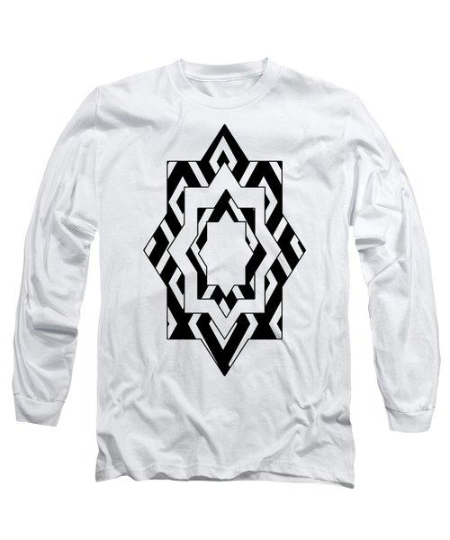 Black White Pattern Art Long Sleeve T-Shirt
