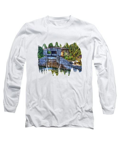Long Sleeve T-Shirt featuring the photograph Blakes Pond House by Thom Zehrfeld