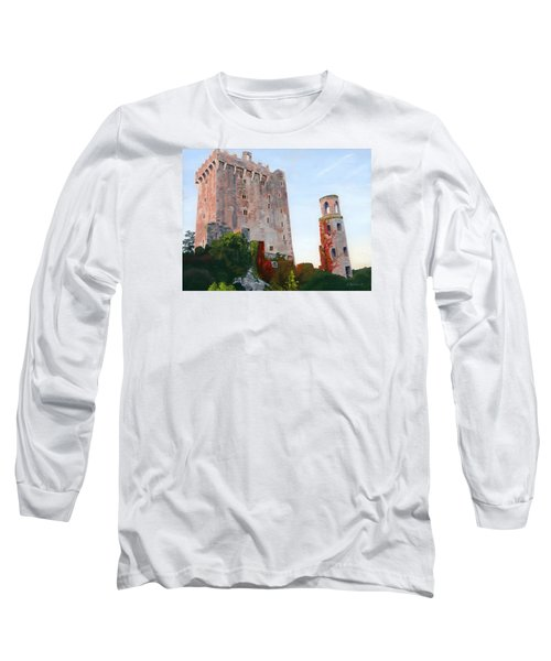 Long Sleeve T-Shirt featuring the painting Blarney Castle by Lynne Reichhart