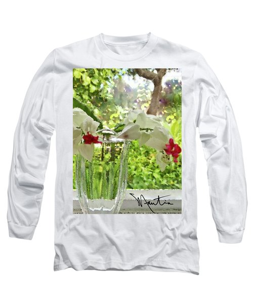 Bleeding Hearts Painted Rocks Long Sleeve T-Shirt