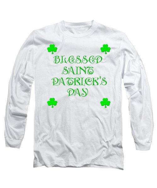 Blessed Saint Patricks Day Long Sleeve T-Shirt by Rose Santuci-Sofranko