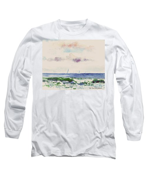 Block Island Sound Long Sleeve T-Shirt by Joan Hartenstein