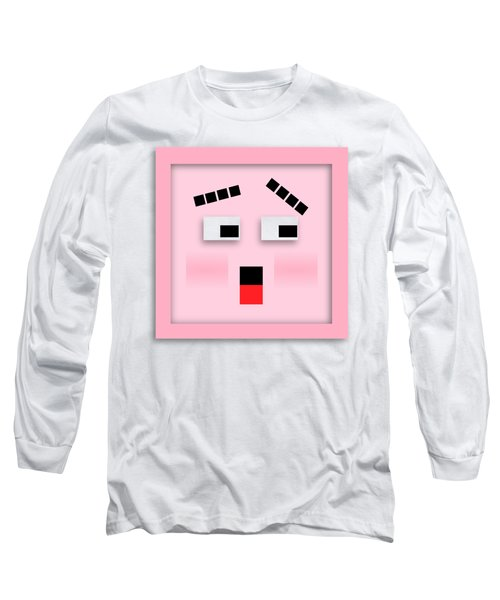 Long Sleeve T-Shirt featuring the digital art Blockhead by John Wills