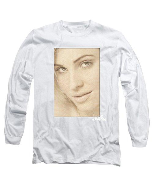 Blonde Girl's Face Long Sleeve T-Shirt