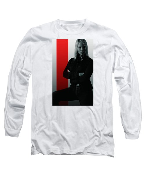 Blonde With Attitude Long Sleeve T-Shirt by Bob Pardue