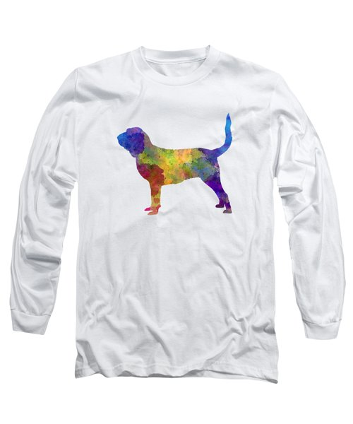 Bloodhound In Watercolor Long Sleeve T-Shirt