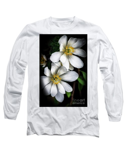 Long Sleeve T-Shirt featuring the photograph Bloodroot In Bloom by Thomas R Fletcher