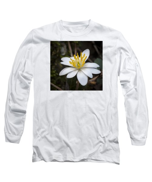 Long Sleeve T-Shirt featuring the photograph Bloodroot by Tyson and Kathy Smith