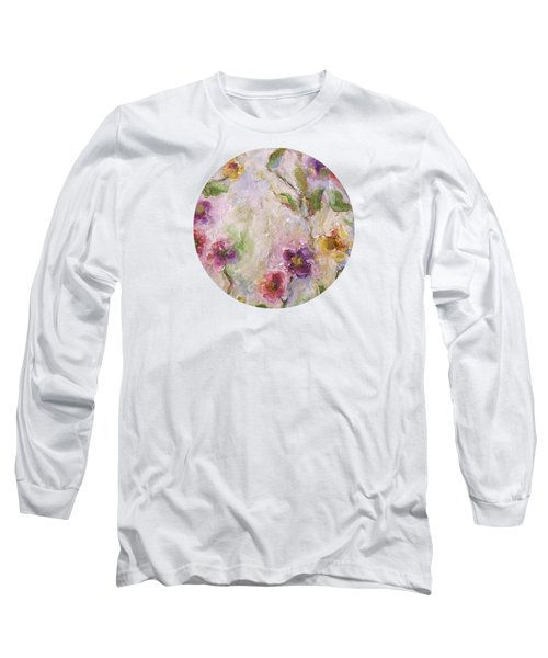 Long Sleeve T-Shirt featuring the painting Bloom by Mary Wolf
