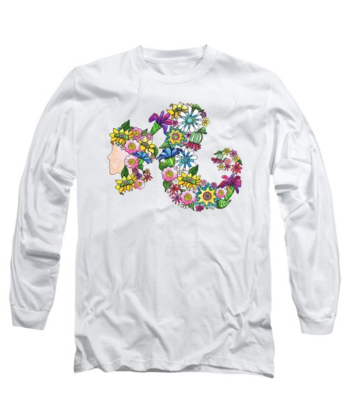 Blossoming Ponytail Long Sleeve T-Shirt