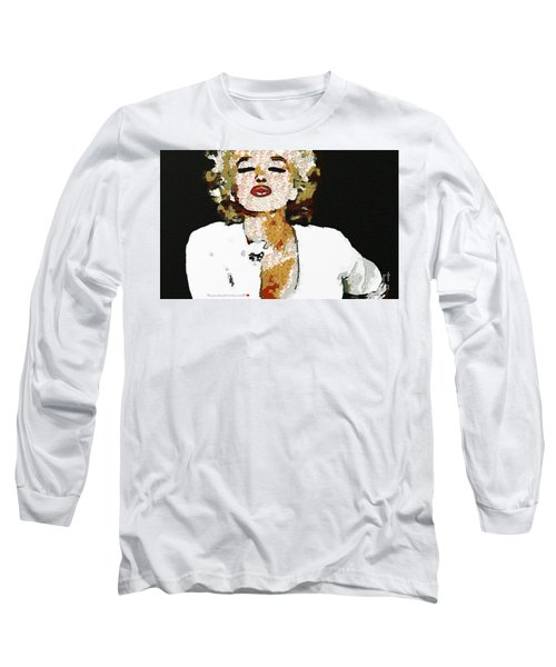 Blow Me A Kiss Marilyn Monroe In The Mix Long Sleeve T-Shirt