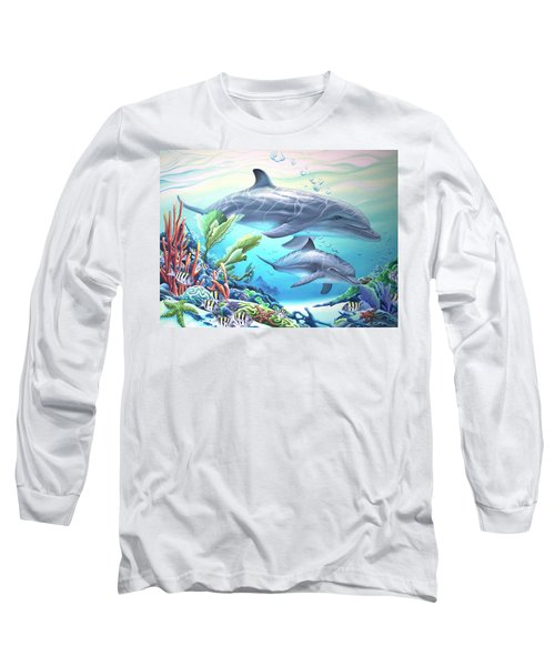 Blowing Bubbles Long Sleeve T-Shirt by William Love