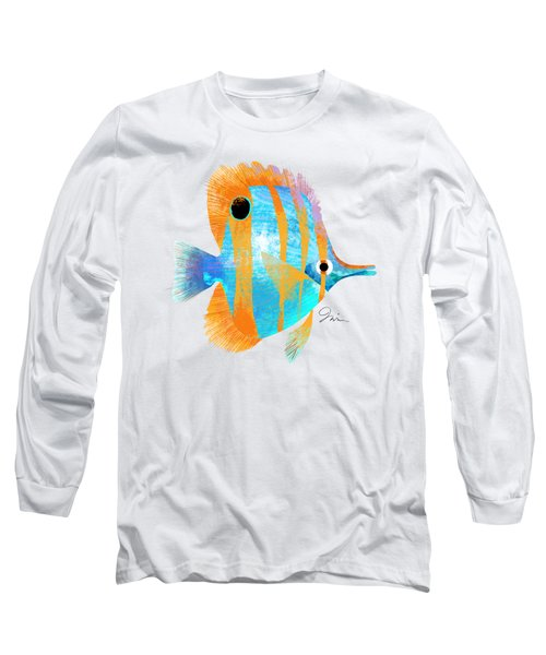 Blue And Gold Fish Long Sleeve T-Shirt