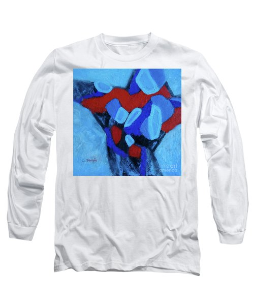 Blue And Red Long Sleeve T-Shirt