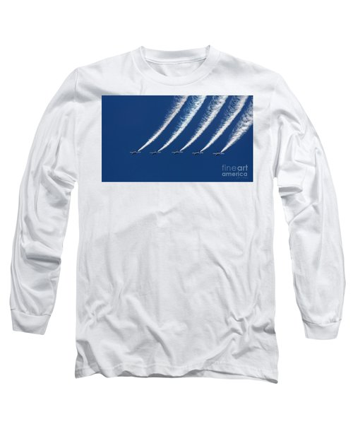 Blue Angels Formation Long Sleeve T-Shirt by John A Rodriguez
