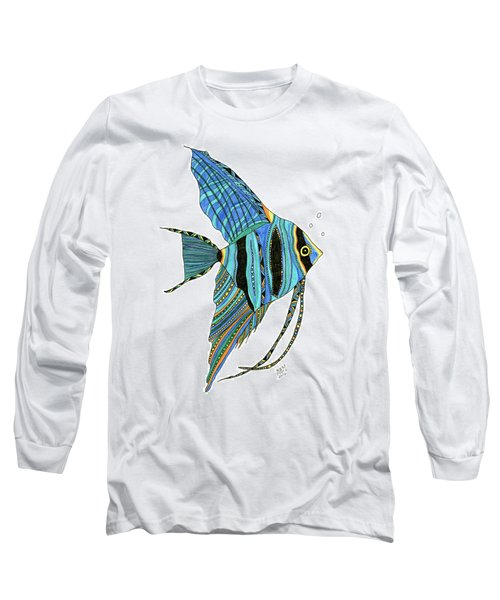 Blue Anglefish Long Sleeve T-Shirt