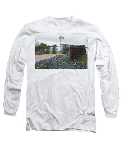 Blue Bonnets By Gate Long Sleeve T-Shirt