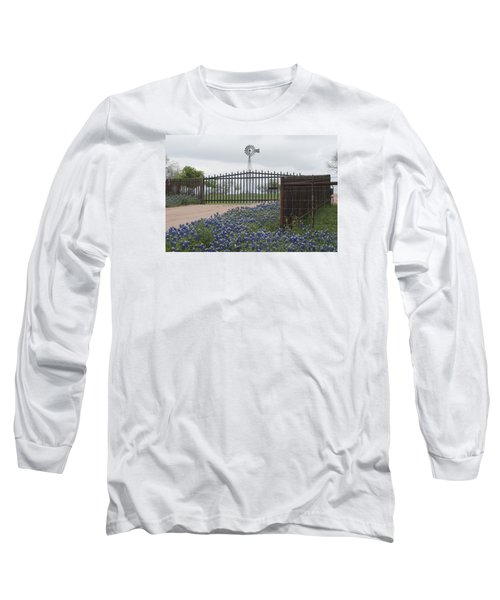 Blue Bonnets By Gate Long Sleeve T-Shirt