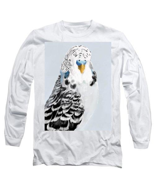 Blue Budgie Long Sleeve T-Shirt
