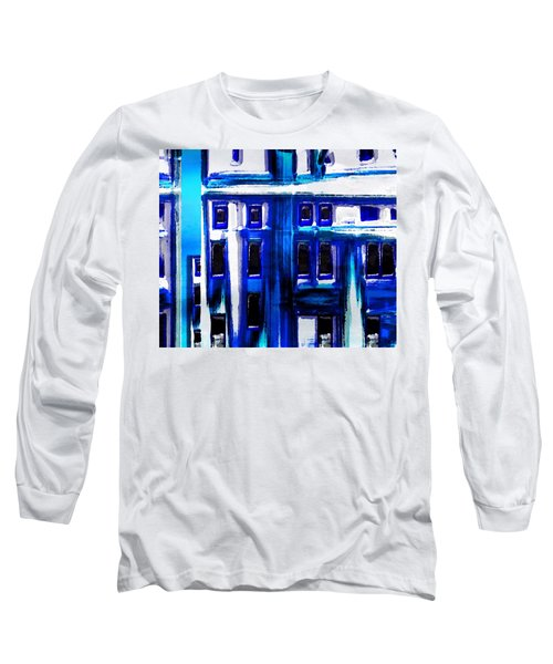Blue Buildings Long Sleeve T-Shirt