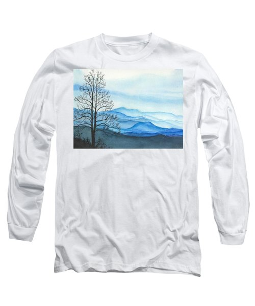 Long Sleeve T-Shirt featuring the painting Blue Calm by Rachel Hames