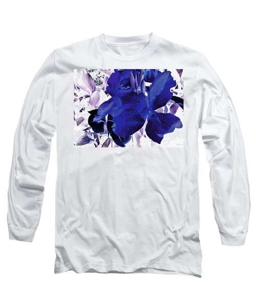 Long Sleeve T-Shirt featuring the photograph Blue Canna Lily by Shawna Rowe