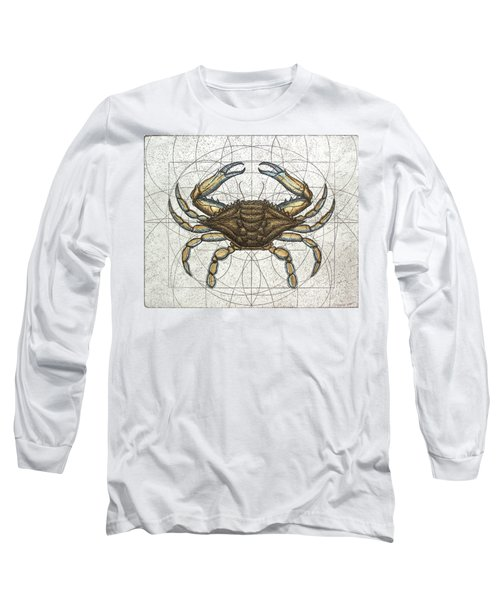 Blue Crab Long Sleeve T-Shirt by Charles Harden