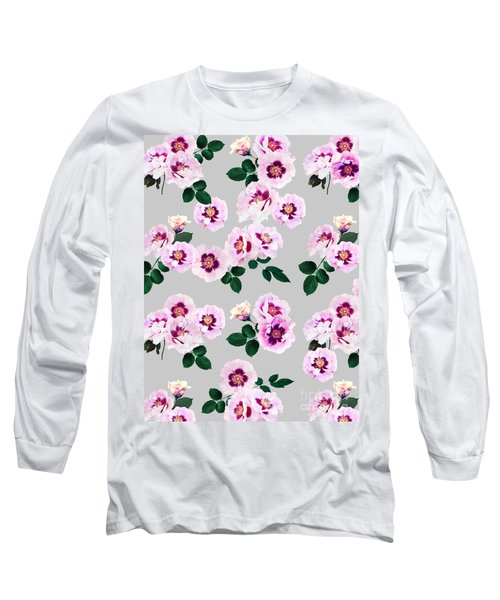 Blue Eyes Roses Long Sleeve T-Shirt