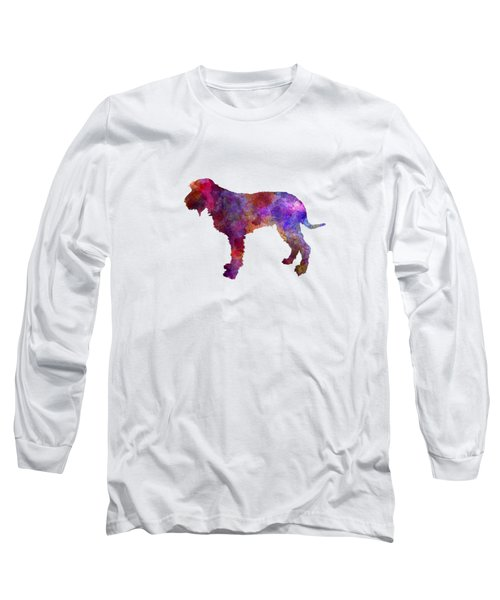 Blue Gascony Griffon In Watercolor Long Sleeve T-Shirt by Pablo Romero